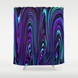 Jewel Tone Swirl Shower Curtain