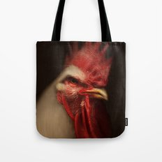 White Leghorn Rooster Tote Bag