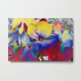 Abstract Flowes 01 Metal Print