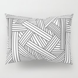 Sketchy Abstract (Grey & White Pattern) Pillow Sham