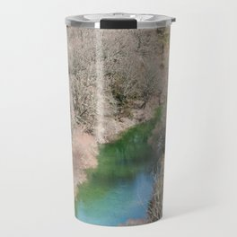 Blue river in French mountains Travel Mug