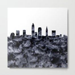 Cleveland Skyline Ohio Metal Print