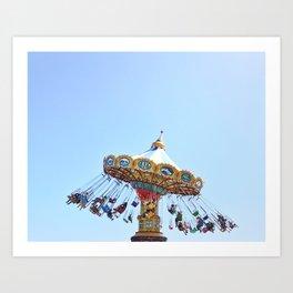 Sata Cruz Swings Art Print