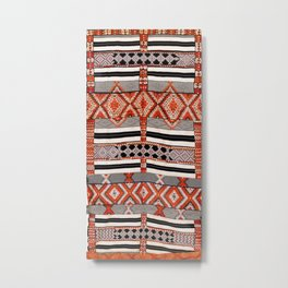 Ait Ouaouzguite South Morocco North African Rug Print Metal Print