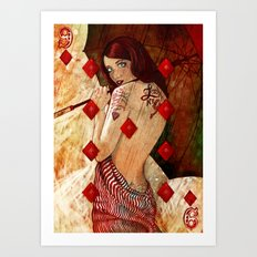 Lucky Number 9 Art Print