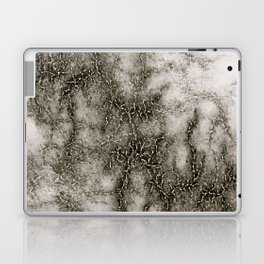 Gray Marble Pattern Black And Silver Vined Laptop & iPad Skin