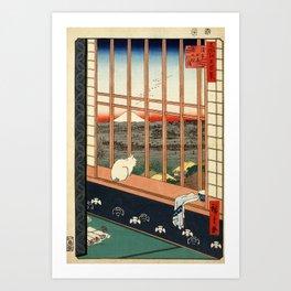 Asakusa ricefields and torinomachi festival Art Print
