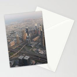 Dubai Emirates UAE Megapolis From above Skyscrapers Cities megalopolis Stationery Cards
