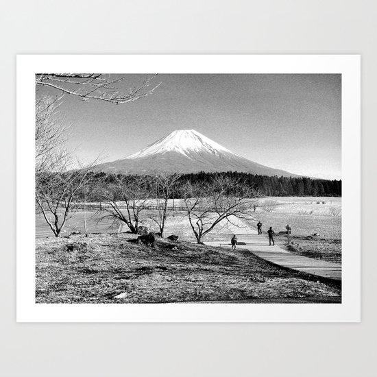 mt fuji Art Print