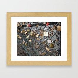 Love Locks in Paris Framed Art Print