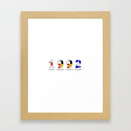 1992 - NAVY - My Year of Birth Framed Art Print