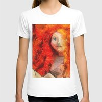 redhead T-shirts featuring brave RedHead  by Julia Kovtunyak