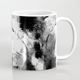 Japan Dreams in Black and White,Abstract Illustration, Women, samurai, abstract scene illustration Coffee Mug