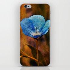 Flower Blue iPhone & iPod Skin
