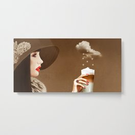 Heavenly Latte Macchiato Metal Print