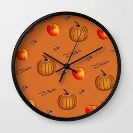 Fall Spice Wall Clock