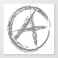 anarchy Canvas Prints featuring Anarchy by Collectivo 2