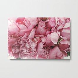 Pink Floral Photography Metal Print