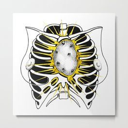 Miss Potato Heart Metal Print
