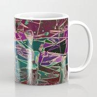 batik Mugs featuring Batik Cave by Glanoramay