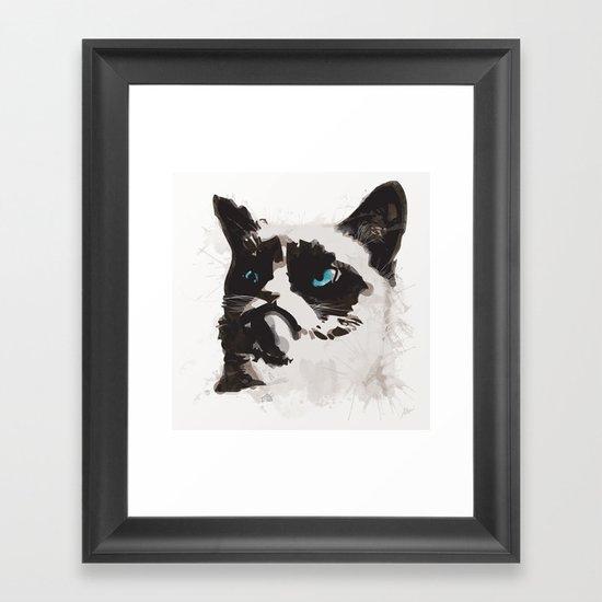 Cat that's Grumpy Framed Art Print