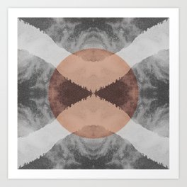 the repeat mountains Art Print
