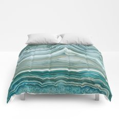 Agate Crystal Blue Comforters