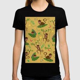 jumping cheeky monkeys yellow 03 T-shirt