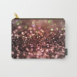 Copper gray and black shiny glitter print - Sparkle Luxury Backdrop Carry-All Pouch