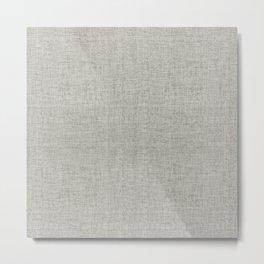 DESERT LINEN MUDCLOTH . GRANITE Metal Print