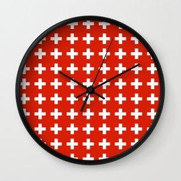 flag of switzerland 2-Switzerland, Alps,swiss,Schweizer,suisse,zurich,bern,geneva Wall Clock