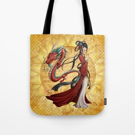 Chinese dragon Tote Bag