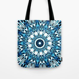 Blue White Black Explosion Tote Bag