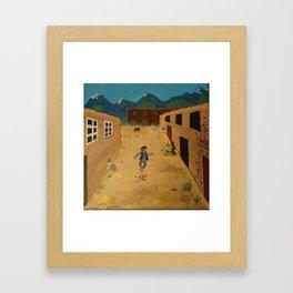 Heel Kicker Framed Art Print