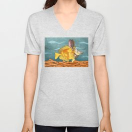 Foxface rabbit fish Unisex V-Neck