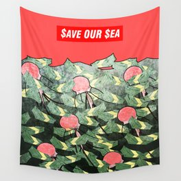 PRIM8: $ea Pollution_$ave Our $ea Wall Tapestry