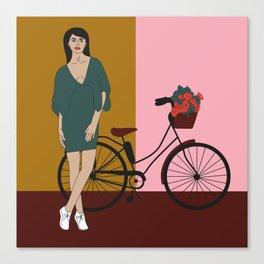 Bicyclette Canvas Print