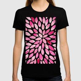 Watercolor brush strokes - pink T-shirt