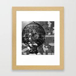 Vintage Hot Air Balloon Framed Art Print