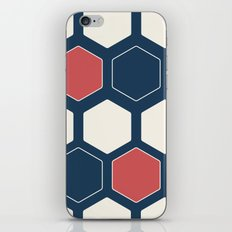 Hexed Navy iPhone & iPod Skin