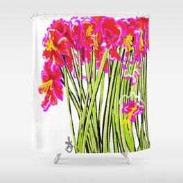 Red Flowers again, Hybiscus Shower Curtain
