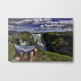 Gullfoss Crystal Ball 2 Metal Print