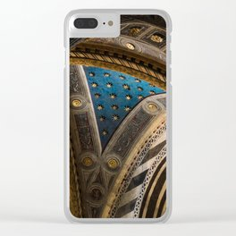 blue ceiling Clear iPhone Case