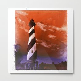 Cape Hatteras lighthouse- Outer Banks, North Carolina.  Lighthouse painting OBX. Metal Print