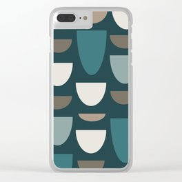 Turquoise Bowls Clear iPhone Case