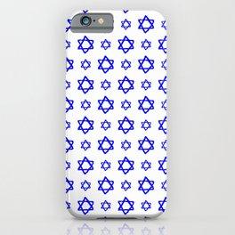 star of david 41 - blue iPhone Case