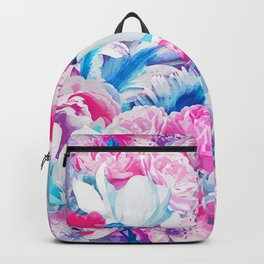 FLORAL GARDEN Peony & Magnolia Backpack