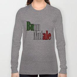 Buon Natale Flag Long Sleeve T-shirt