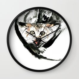 Desert Cat 1 Wall Clock