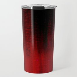 Red and Black Abstract Travel Mug